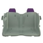 Seat (gray) w/Purple Headrests (Y9367)