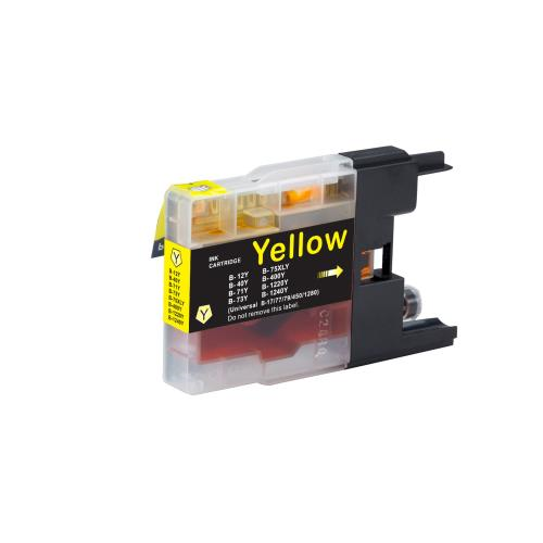Brother LC75Y Compatible Yellow Ink Cartridge High Yield